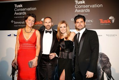 Tusk Patrons Kate Silverton & Katherine Jenkins with their husbands Mike Silverton-Heron & Andrew Levitas