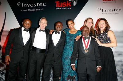 Finalists with Charlie Mayhew, CEO of Tusk, and Sarah Watson, Director of Programmes