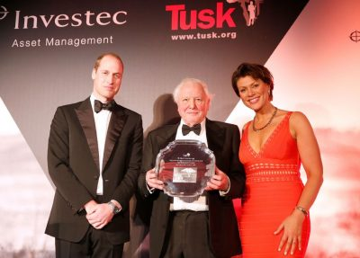 Prince William with Sir David Attenborough and Kate Silverton, Awards Ceremony Host