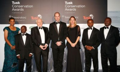 Prince William with Finalists and Sir David Attenborough