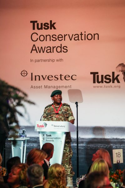 Tusk Conservation Awards 2018 - Julius Obwona Winner of the Tusk Wildlife Ranger Award 2018 gives award speech