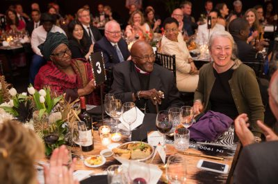 Tusk Awards 2017 Archbishop Desmond Tutu with Mrs Graca Michel & Lorna Labuschagne
