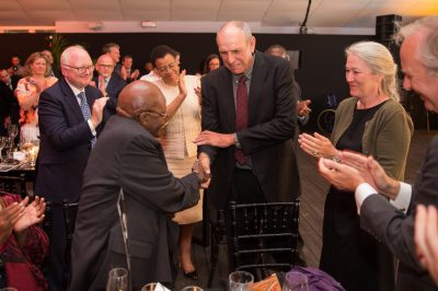 Tusk Awards 2017 Archbishop Desmond Tutu & with Prince William Award Winner Rian Labuschagne