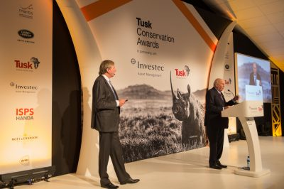 Tusk Awards 2017 FW de Klerk with Derek Watts
