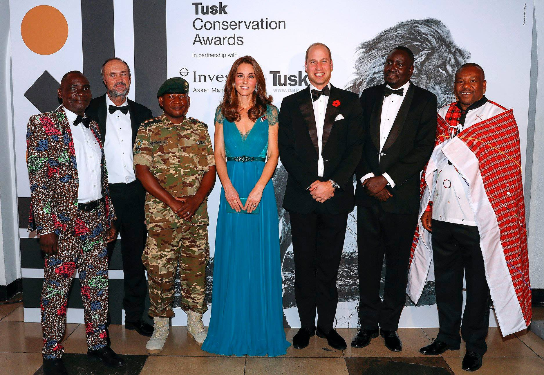 Duke and Duchess of Cambridge with the Tusk Conservation Award Winners 2018